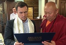 Его Святейшество Дрикунг Кьябгон Четсанг в Иркутске