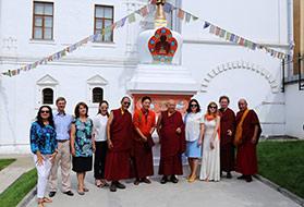 Его Святейшество Четсанг Ринпоче посетил Храм Христа Спасителя и Международный Центр-Музей им. Н.К. Рериха