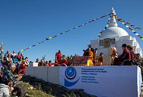 Ритуал благословления Ступы и подношение нагам и защитникам озера Байкал