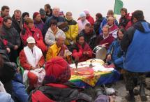 Всеблагая Открытие Ступы Великого Просветления, дарующая освобождение через видение на Байкале