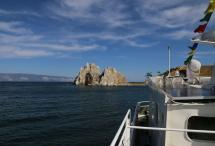 Прощание с островом Огой и Ступой и переход на остров Ольхон